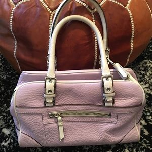 Coach lavender and white Handbag